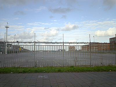 verlaten en leeg ligt het parkeergebied van de NorfolkLine er bij