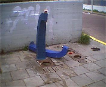 Er is weer een waterpomp gesneuveld dit weekend ...