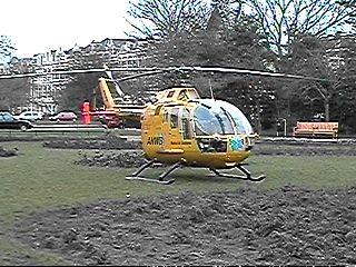 Achtervolgd door een helicopter ...