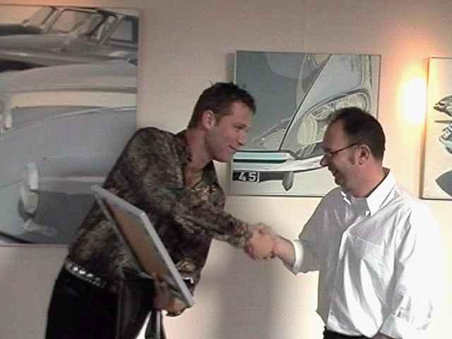 Eric ontving een Jaguar E-type als dank ...