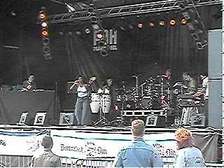Rock Stage laatste in Zomer op het Spui ...