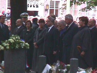 Het voltallige Kabinet voor de Amerikaanse Ambassade in Den Haag