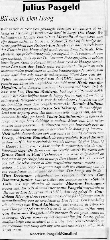 de column in de Posthoorn van 27.10.05