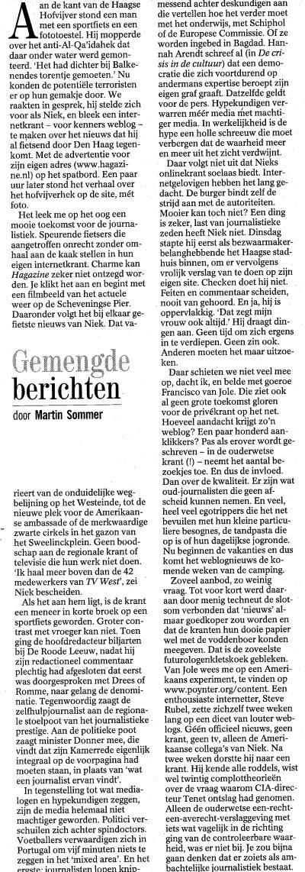 het interview met Martin Sommer van de Volkskrant